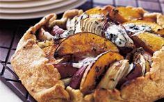 Butternut Squash, Apple & Onion Galette with Stilton