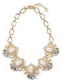 Shimmer Chic Floral Necklace