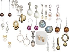 Pearl Earrings, created by shellyl on Polyvore