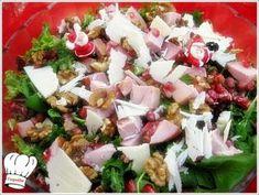 ΓΙΟΡΤΙΝΗ ΣΑΛΑΤΑ!!! - Νόστιμες συνταγές της Γωγώς! Cobb Salad, Feta, Potato Salad, Food And Drink, Cheese, Ethnic Recipes, Happy, Ser Feliz, Being Happy