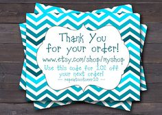 Customer Reciation Thank You Card Business Insert For Orders Tag
