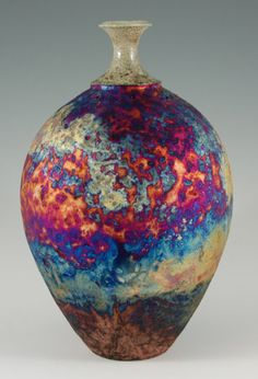 Copper Raku Bottle on Etsy, Sold