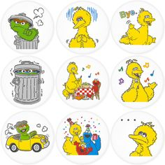 "SESAME STREET 1.75"" Badges Pinbacks, Mirror, Magnet, Bottle Opener Keychain http://www.amazon.com/gp/product/B00FEKUDUI"