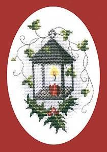 Send a unique seasonal greeting this year with this cross stitch card kit!...