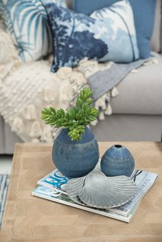 Missing your perfect coffee table accessory? Visit the 'Homewares' section of our website and browse our range from the comfort of your own home! Link in bio! Modern Coastal, Coastal Style, Coastal Decor, Beachy Colors, Soft Colors, Interior Styling, Interior Decorating, Coffee Table Centerpieces, Hamptons Style Homes