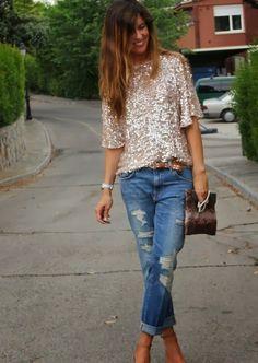 Zara Jeans With Suitable Zara Camisas and Handbag
