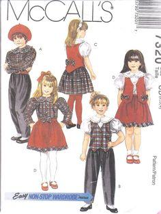 7320 UNCUT McCalls Vintage SEWING Pattern Blouse Lined Vest Skirt Pant #McCalls