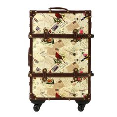Women 20″ 24″ 26″ Inches Vintage Style PU Hardside Rolling Luggage ...