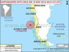 Earthquake  in Aisen, Chile - 13th Nov 2012