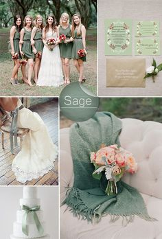 Sage Green Rustic Wedding Color Ideas and Wedding Invitations