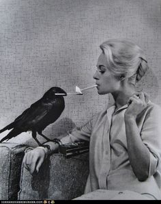 i don't always smoke, but when i do i let my crow light it.