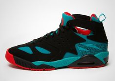 Nike Air Tech Challenge Huarache in Black/Turbo Green-Light Crimson #nike #nikesportswear