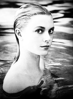 Grace Kelly. (1929-1982). American actress and later Princess Consort of Monaco. Photographed by Howell Conant, 1955.