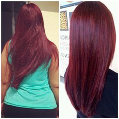 My New Hair Color Day Dyed It Using Loreal Developer Hicolor Highlights Red Magenta