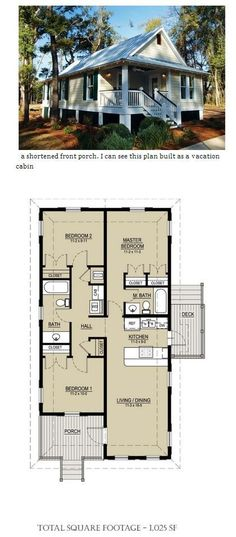 Small Scale Homes- New Katrina Cottages and Bungalows House Plans LLC Cottages And Bungalows, Cabins And Cottages, Cottage Plan, Cottage Homes, Small House Plans, House Floor Plans, Tiny House Living, Living Room, Cabin Plans