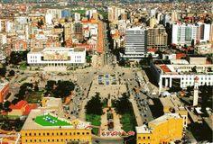 Beautiful Travel Postcard: View of Tirana (Albania)