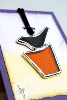 Stained Glass Jewelry Pendant Necklace Abstract by BayouGlassArts, $30.00