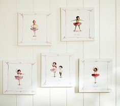 Ballet Positions Canvases #PotteryBarnKids  Really want these for Ryann's new big girl room!!!