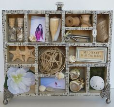 """""""Song of the Sea"""" Configurations Box made with Tim Holtz Idea-ology.  Visit the YMH Blog for detailed photos.  TFL!"""