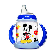 The Mickey Mouse Learner Cup will help your baby transition to a sippy cup in style. NUK Learner Cups are designed to help transition your baby from . Baby Mickey Mouse, Nuk Pacifier, Teaching Babies, Disney Babys, Disney Cups, Diaper Bag, Baby Bottles, Baby Feeding, Baby Kids