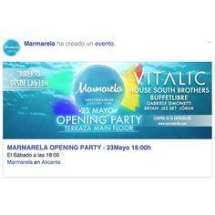 Busca en facebook el evento oficial de la #OpeningParty del #23MayoⓂ️ Únete y descubre cómo GANAR DOS ENTRADAS! #Summer #Alc #Marmarela