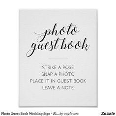 Foto-Gast-Buch-Hochzeits-Zeichen - Alejandra Poster