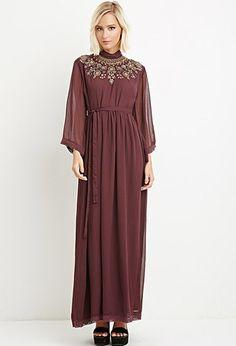 Sequin Chiffon Maxi Dress | Forever 21 - 2000173282