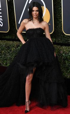Kendall Jenner from 2018 Golden Globes Red Carpet Fashion
