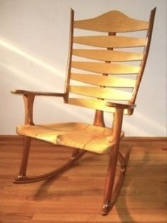 A custom handmade rocking chair is a marvelous mixture of engineering, art and construction.
