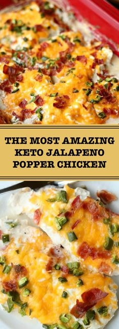 The Most Amazing Keto Jalapeno Popper Chicken – recipesrecipes.club The Most Amazing Keto Jalapeno Popper Chicken – recipesrecipes. Low Carb Recipes, Diet Recipes, Cooking Recipes, Healthy Recipes, Keto Recipes With Bacon, Xmas Recipes, Recipies, Keto Foods, Jalepeno Popper Chicken