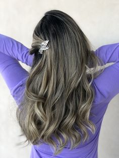 #foilayage #highlights Highlights, Long Hair Styles, Color, Beauty, Beleza, Long Hairstyle, Colour, Highlight, Long Hairstyles