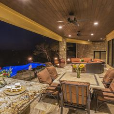 Lake Travis Modern Italian Outdoor Living by Zbranek and Holt Custom Homes
