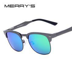 MERRY'S Men Brand Classic Luxury Brand Sunglasses Polarized Mirror Sunglasses Aluminum Alloy Men/Women Glasses