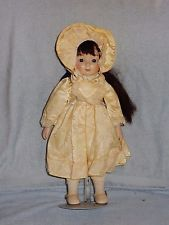 """Gorham Sugar & Spice Bisque 16"""" Musical Doll w Stand Plays My Favorite Things"""