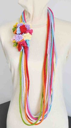 FLORAL RAINBOW Crochet Multicolor String by jennysunny on Etsy