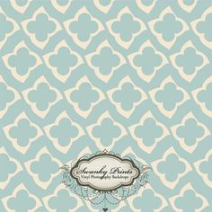 Light Blue Happy Flowers - Oz Backdrops and Props