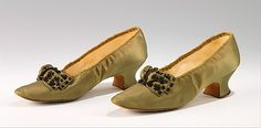Ensemble: Shoes, House of Worth 1893, French, Made of silk