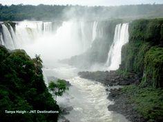 #Iguazu #Falls #Border #Argentina #Brazil #Naturalwonderoftheworld Iguazu Falls, Niagara Falls, Wonders Of The World, Brazil, Waterfall, Destinations, Nature, Outdoor, Buenos Aires Argentina
