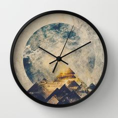 One mountain at a time Wall Clock by HappyMelvin | Society6