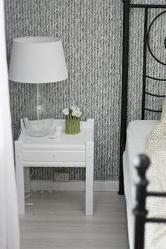 Knitted wallpaper.