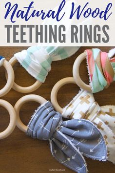 Natural Wood Teething Rings are an easy way to make yourself for the perfect teether for your child. Give this teething ring DIY tutorial a try. #natural #wood #teething #ring #forbaby #toddler #project