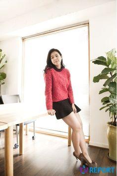 Kyung Soo Jin, Korean Celebrities, Celebs, Girls In Mini Skirts, Asian Woman, Leather Skirt, Asian Ladies, Actresses, Photo Poses