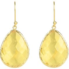 Gold Single Drop Earring Citrine Hydro ($78) ❤ liked on Polyvore featuring jewelry, earrings, yellow gold earrings, gold jewellery, gold jewelry, earrings jewelry and citrine drop earrings