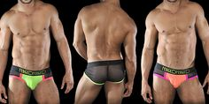 Show And Glow! Marco Marco Mesh-Back Blacklight Briefs