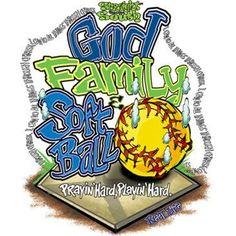 God Family Softball by Mychristianshirts on Etsy