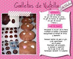 Galletitas de Nutella....,muy faciles y ricas.....para las novatas de la reposteria como yo,....la harina de almendra es almendra molida en polvo!!!