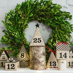 3D Paper Advent Calendar