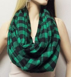 Green and Black Buffalo Plaid Cotton by GypsysWildHeartShop