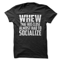 Is it a relief for you when you don't have to socialize? You can show everyone this with this great shirt!