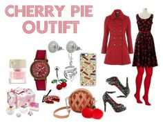 """Cherry Pie Inspired Outfit"" by afiatnemu on Polyvore featuring Chicwish, Betsey Johnson, Iron Fist, Casetify, Crayo, Erstwilder, Bling Jewelry, Bomb Cosmetics and Smith & Cult"